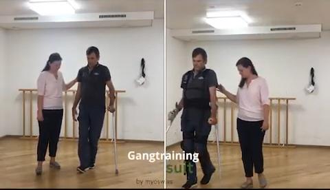 Begleitetes Training Myosuit